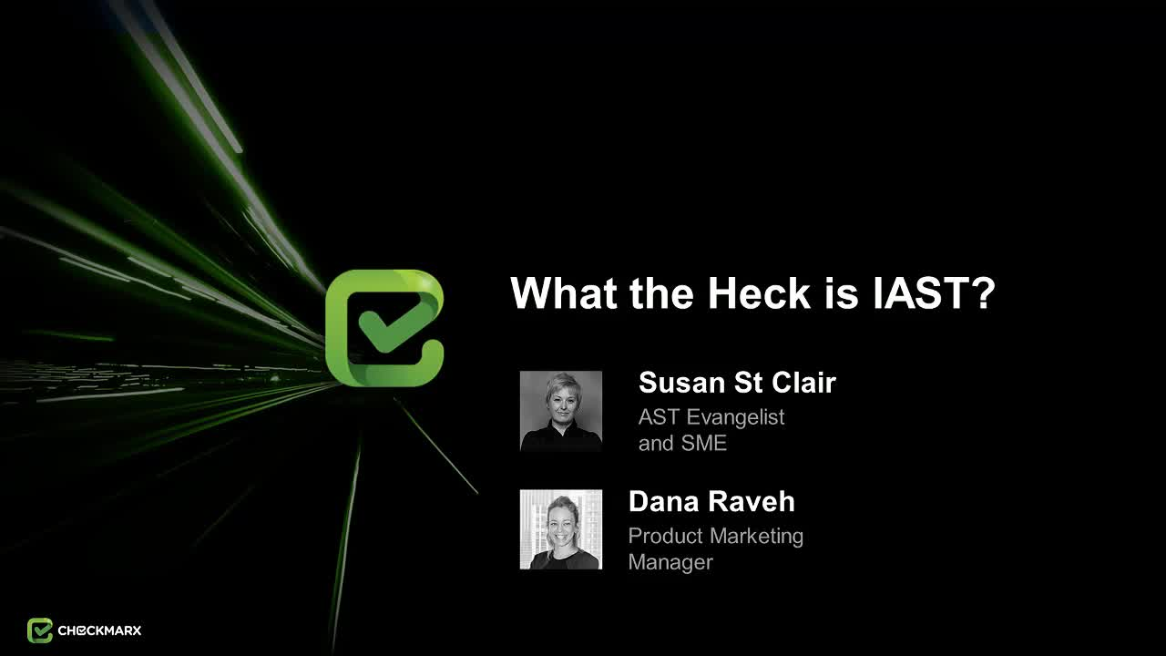 Webinar: What the Heck is IAST?