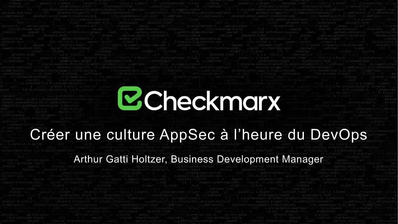 Webinar: Créer une culture AppSec à l'heure du DevOps