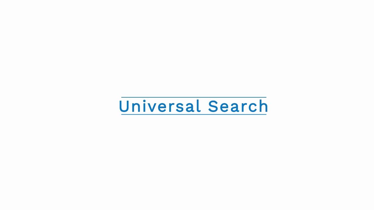 Universal Search Bar