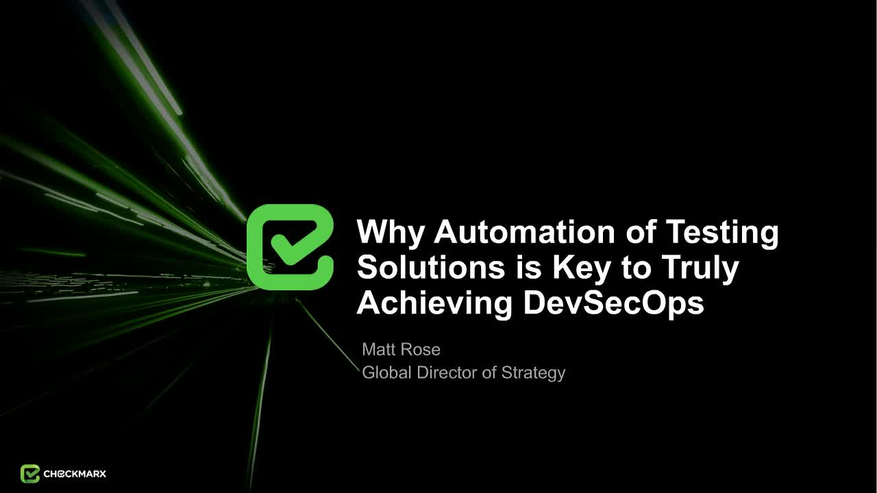 Webinar: Why Automation of AST Solutions is the Key to DevSecOps
