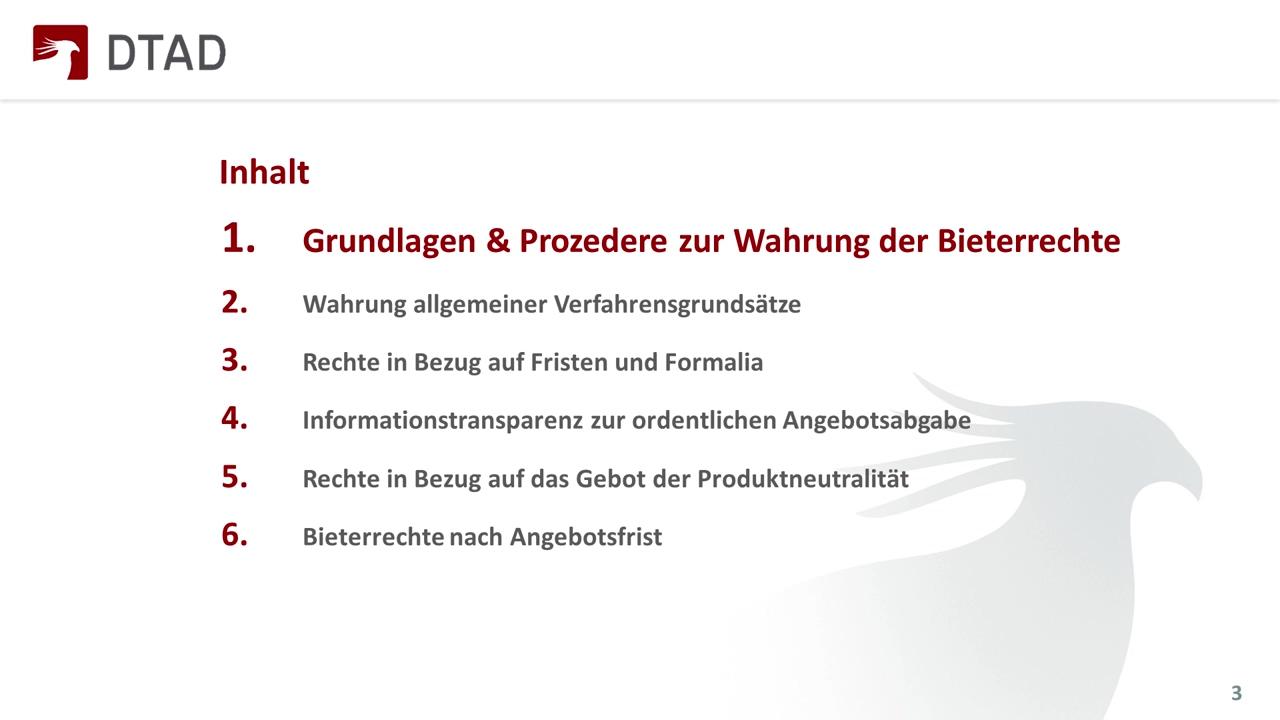 DTAD Webinar - Bieterrechte