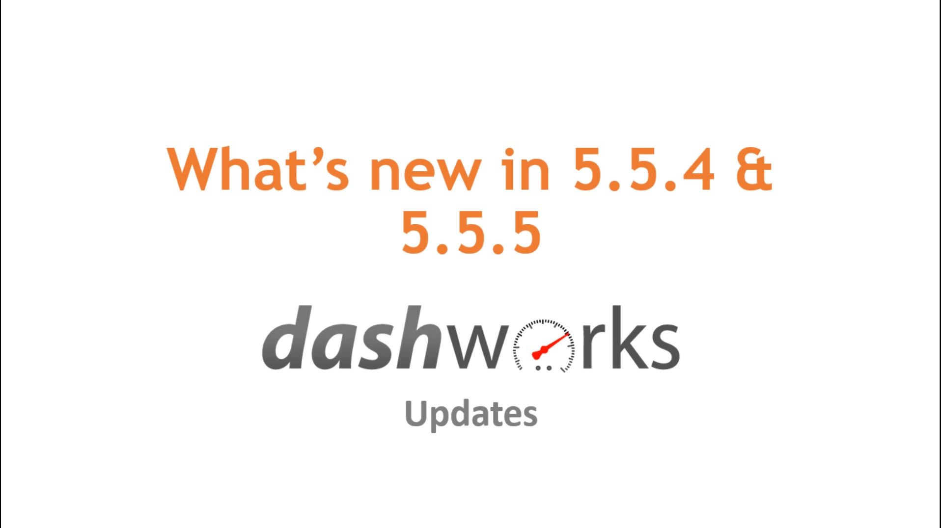 Release Notes Video 5.5.4 and 5.5.5