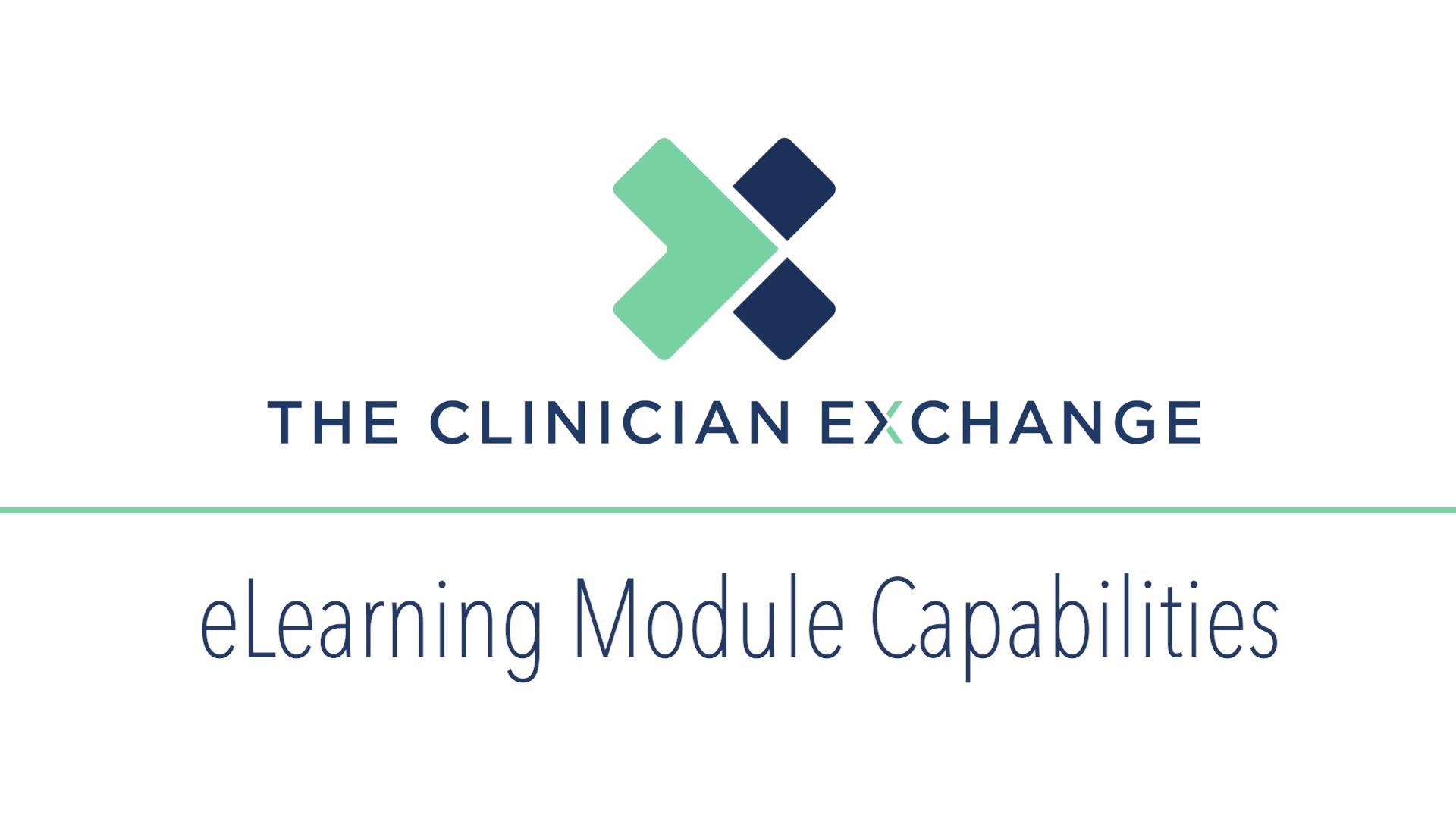 eLearning Module Capabilities