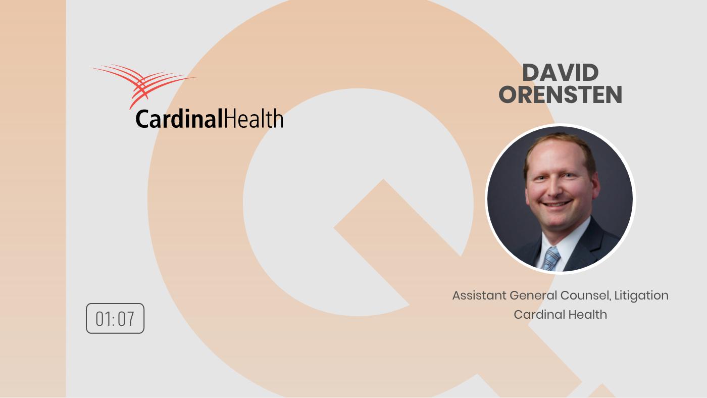 18 - POC EXPERIENCE DAVID ORENSTEN AGC LITIGATION CARDINAL HEALTH