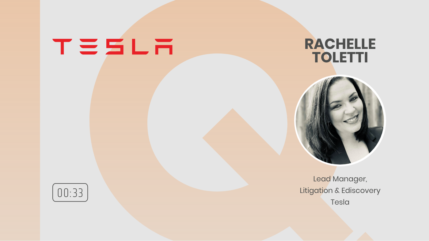 15 - WHEN NOT IF TO USE AI RACHELLE TOLETTI LEAD MGR LITIGATION AND EDISCOVERY TESLA