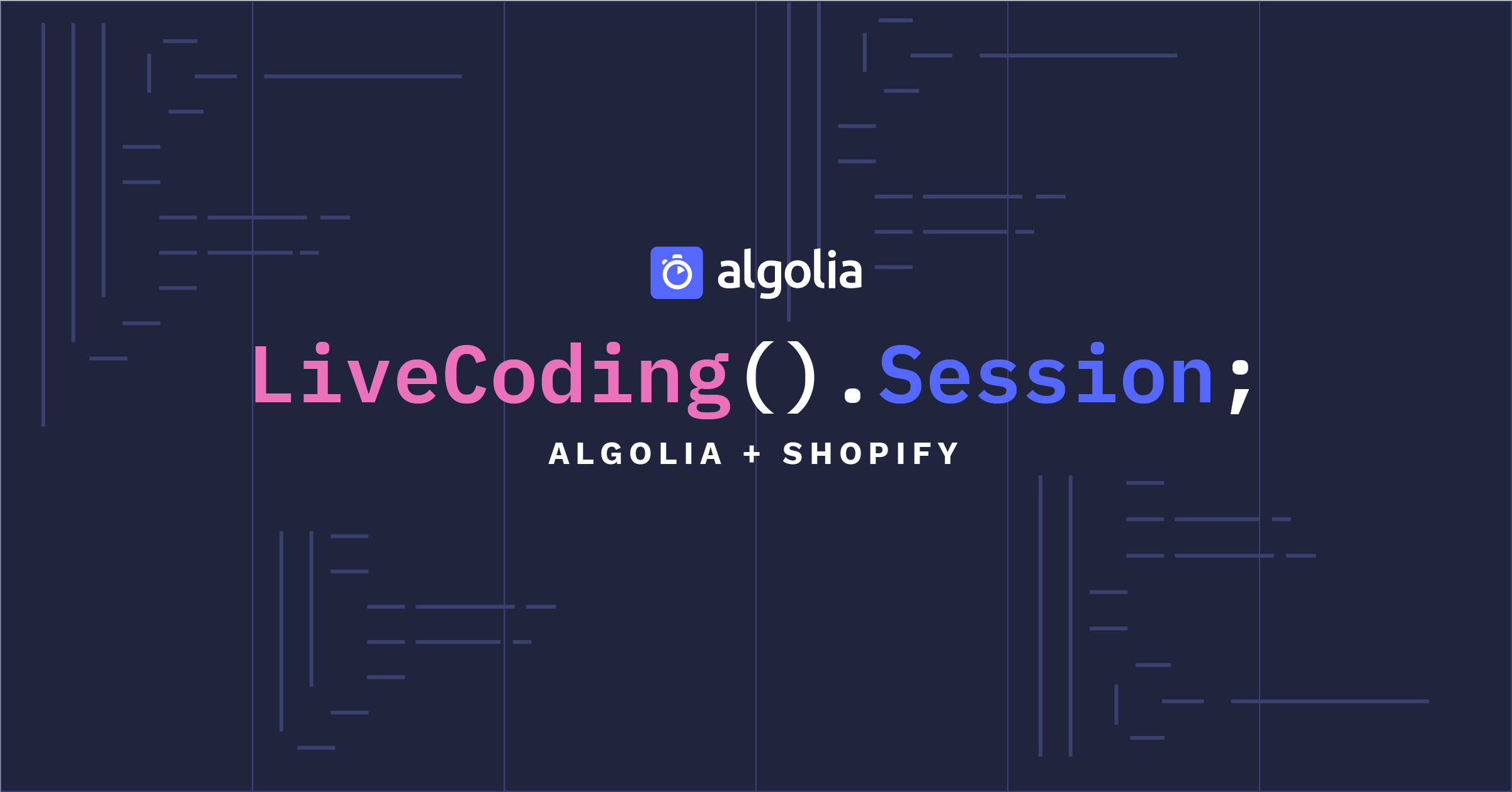 Image for LiveCoding Session: Algolia + Shopify