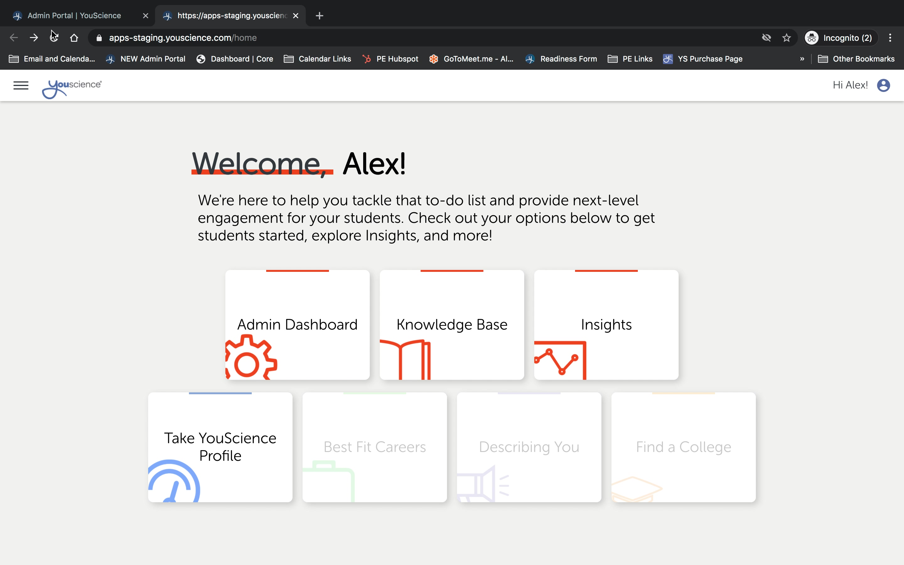 New Landing Page Overview 010821