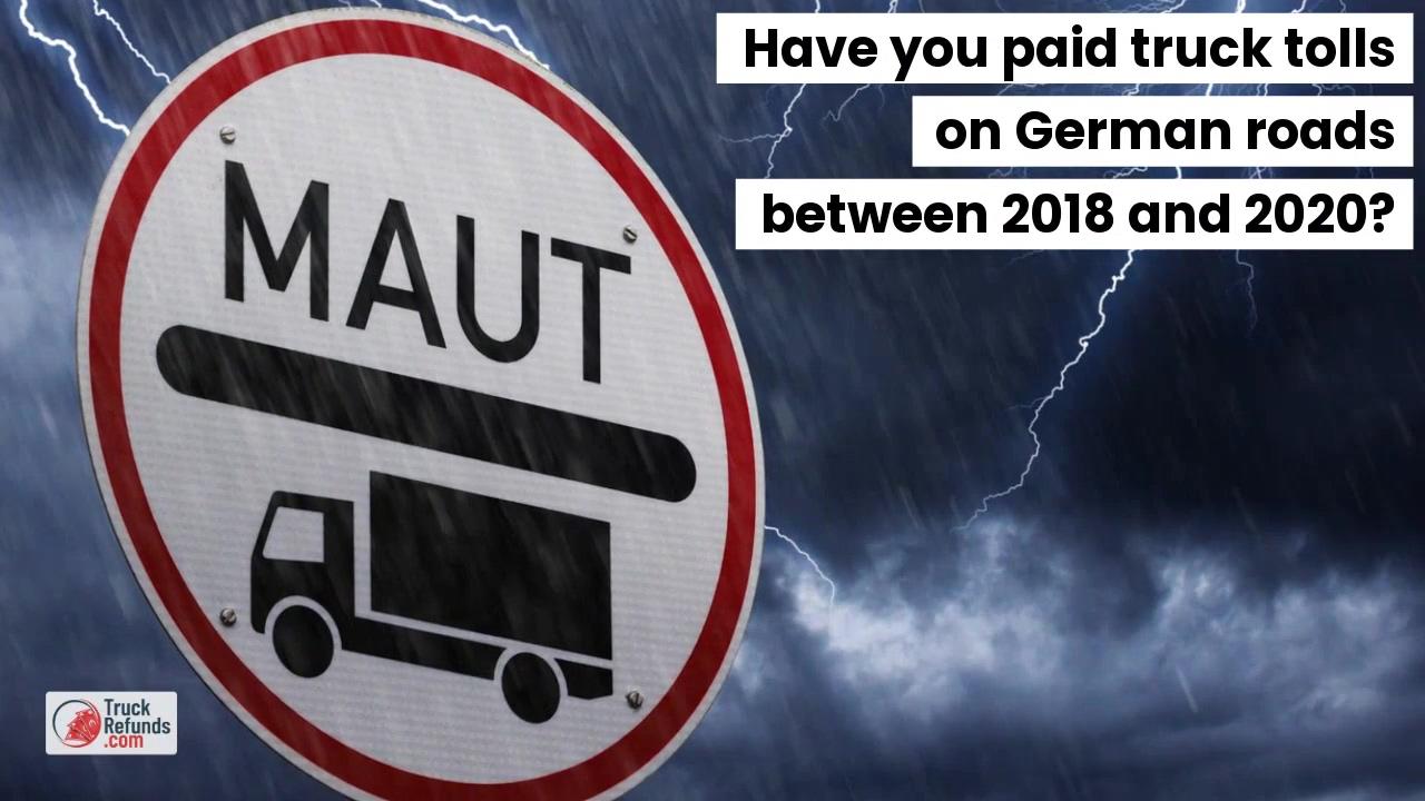 Refund of overpaid truck tolls final