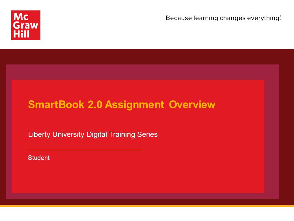 SmartBook 2.0 Overview for Liberty University Blackboard