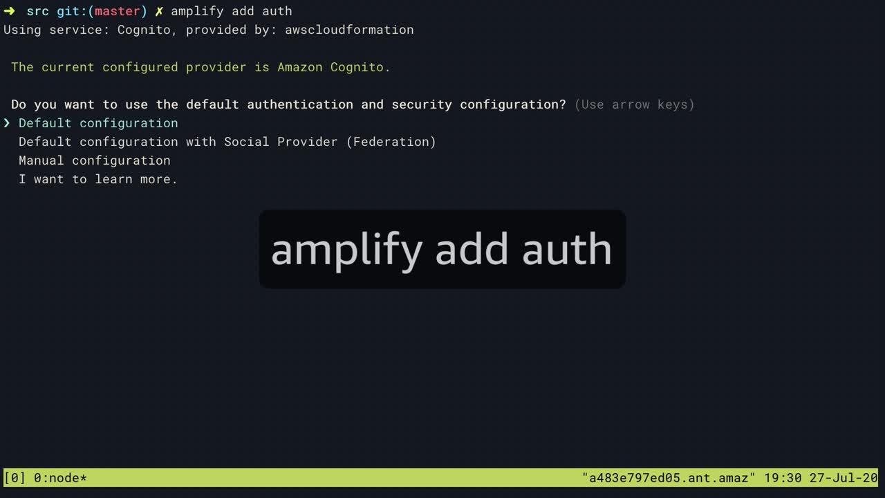 Amplify demo pt 4 - Auth