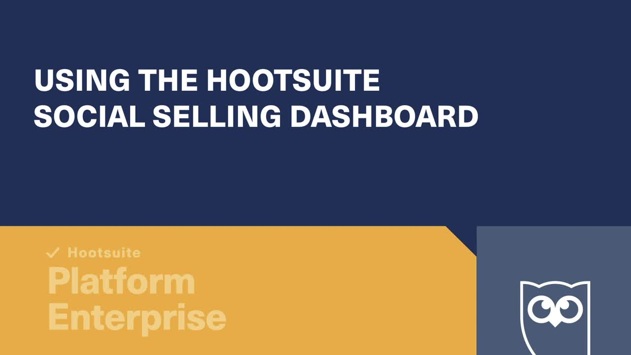Using Hootsuite social selling video