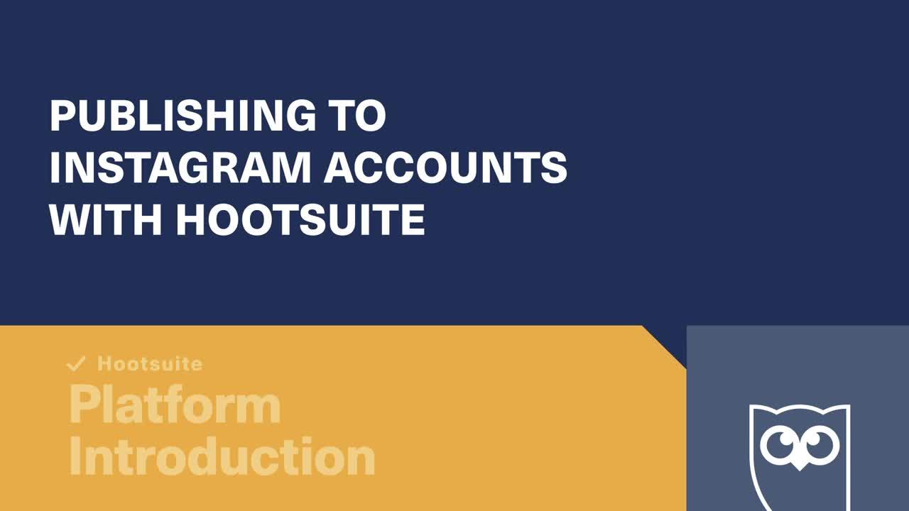 Veröffentlichung auf Instagram-Konten mit Hootsuite-Video