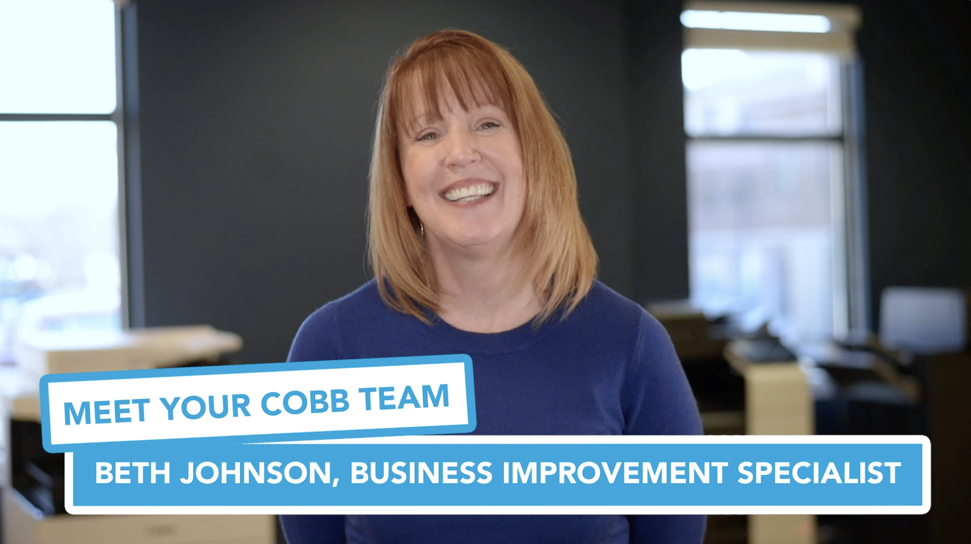 Meet Your Cobb Team Beth Johnson, Business Improvement Specialist
