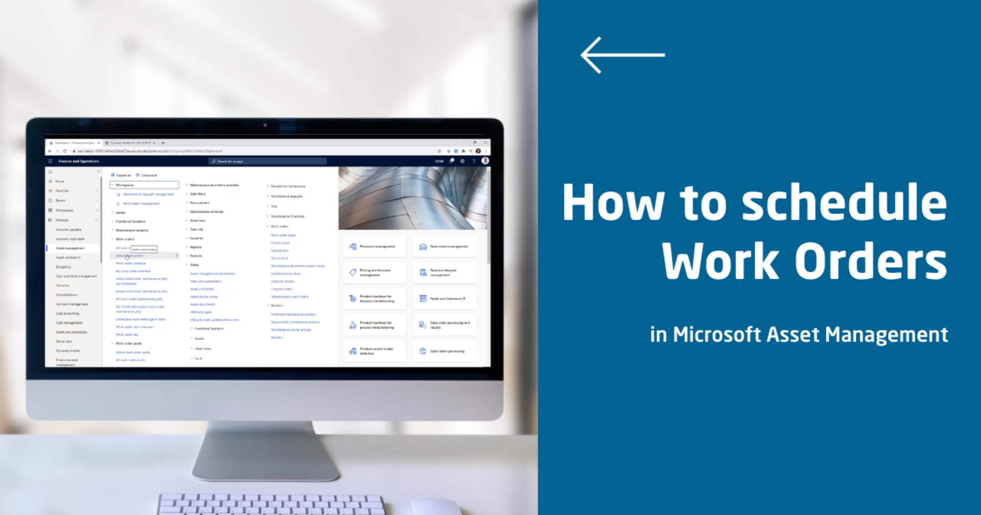 How to schedule Work Order in MS AM