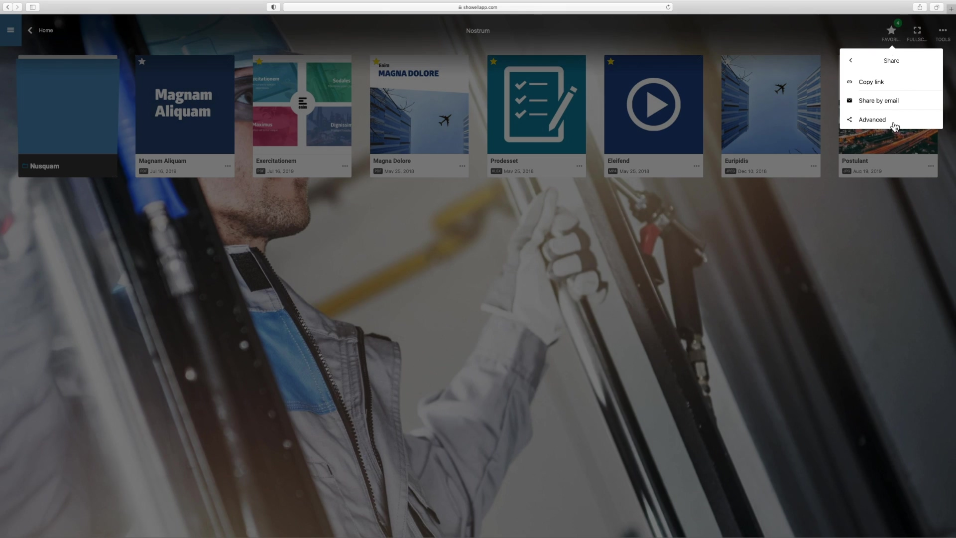 How to share multiple documents