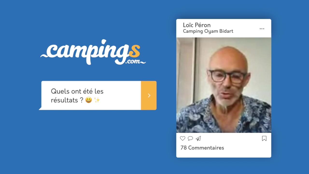 Campings.com interview Loïc Peron Oyam Bidart