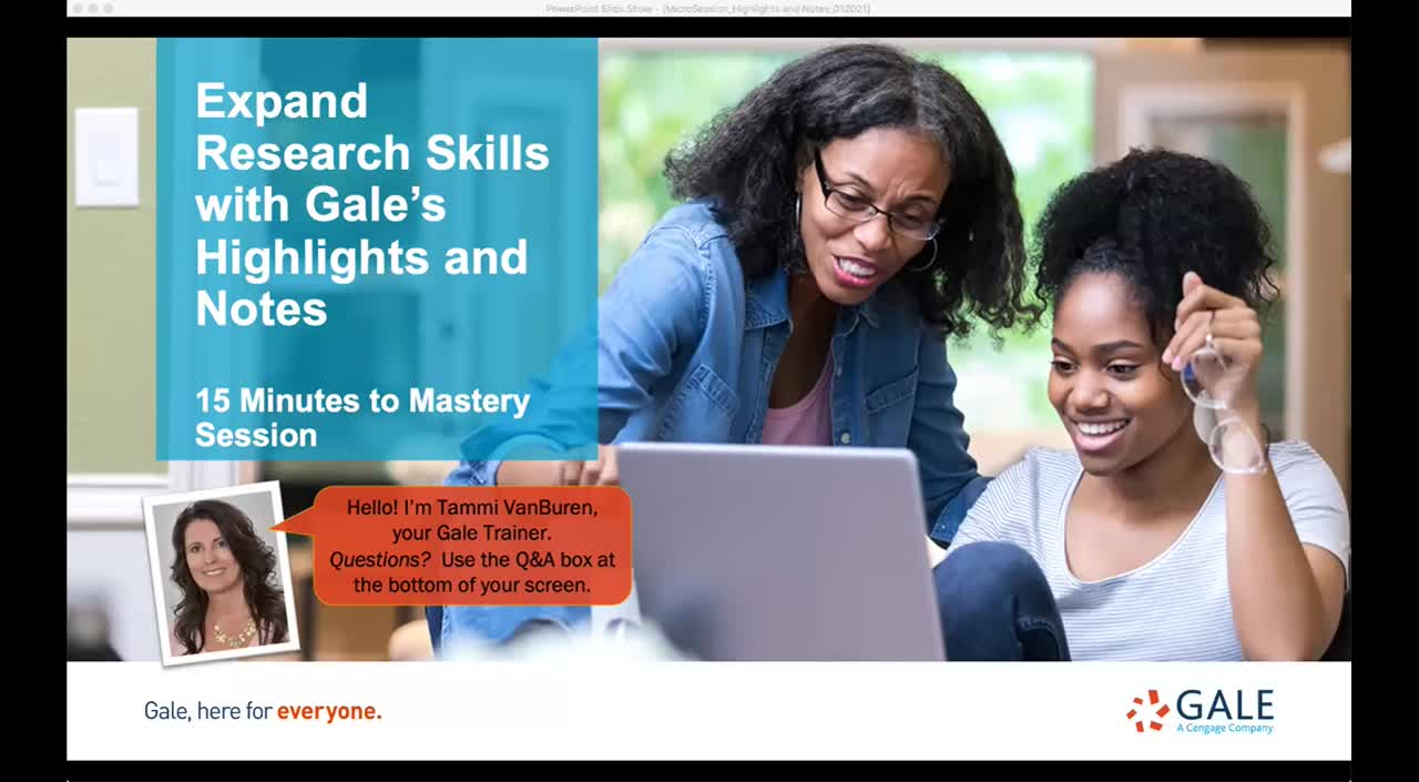 15 Minutes to Mastery: Expand Research Skills with Gale's Highlights and Notes Thumbnail