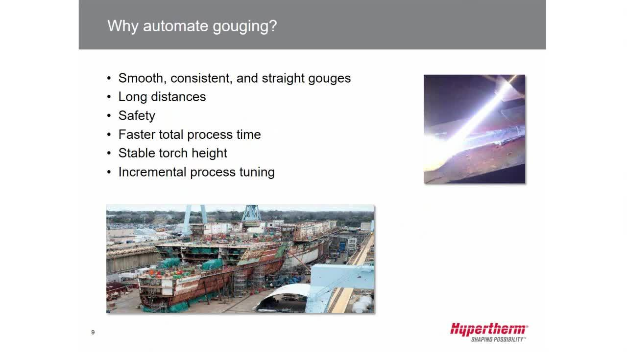 Advancing automated gouging capabilities
