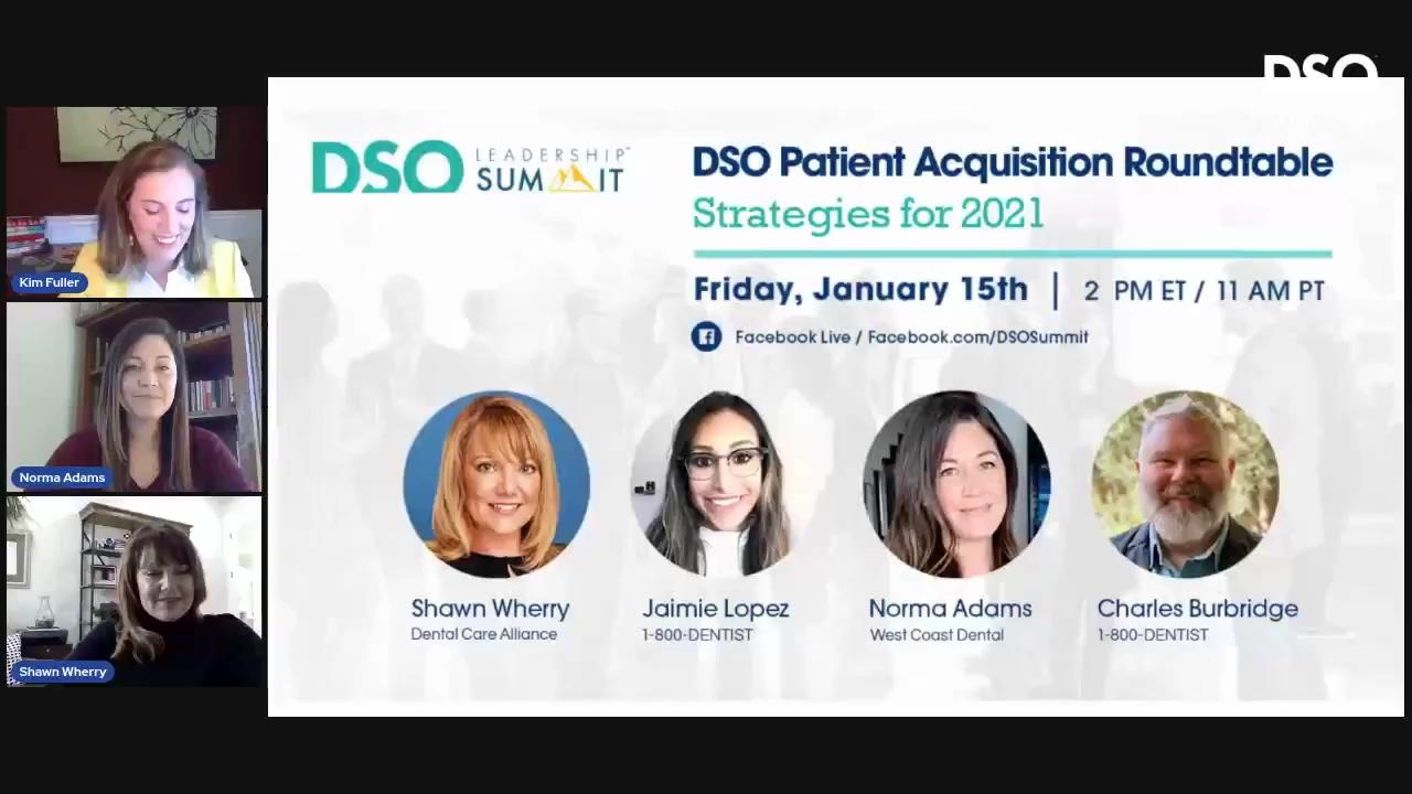DSO Patient Acquisition Roundtable