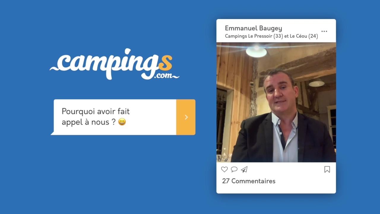 Campings.com interview Emmanuel Baugey Le Céou Le Pressoir