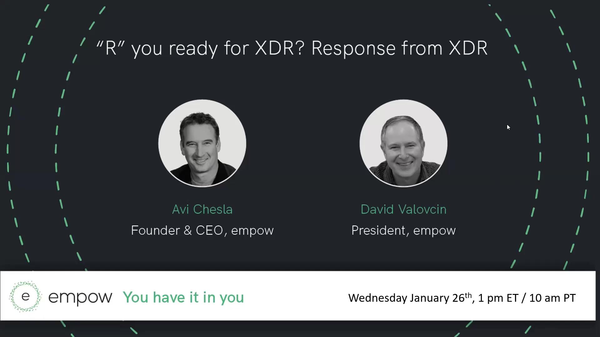 Response XDR webinar