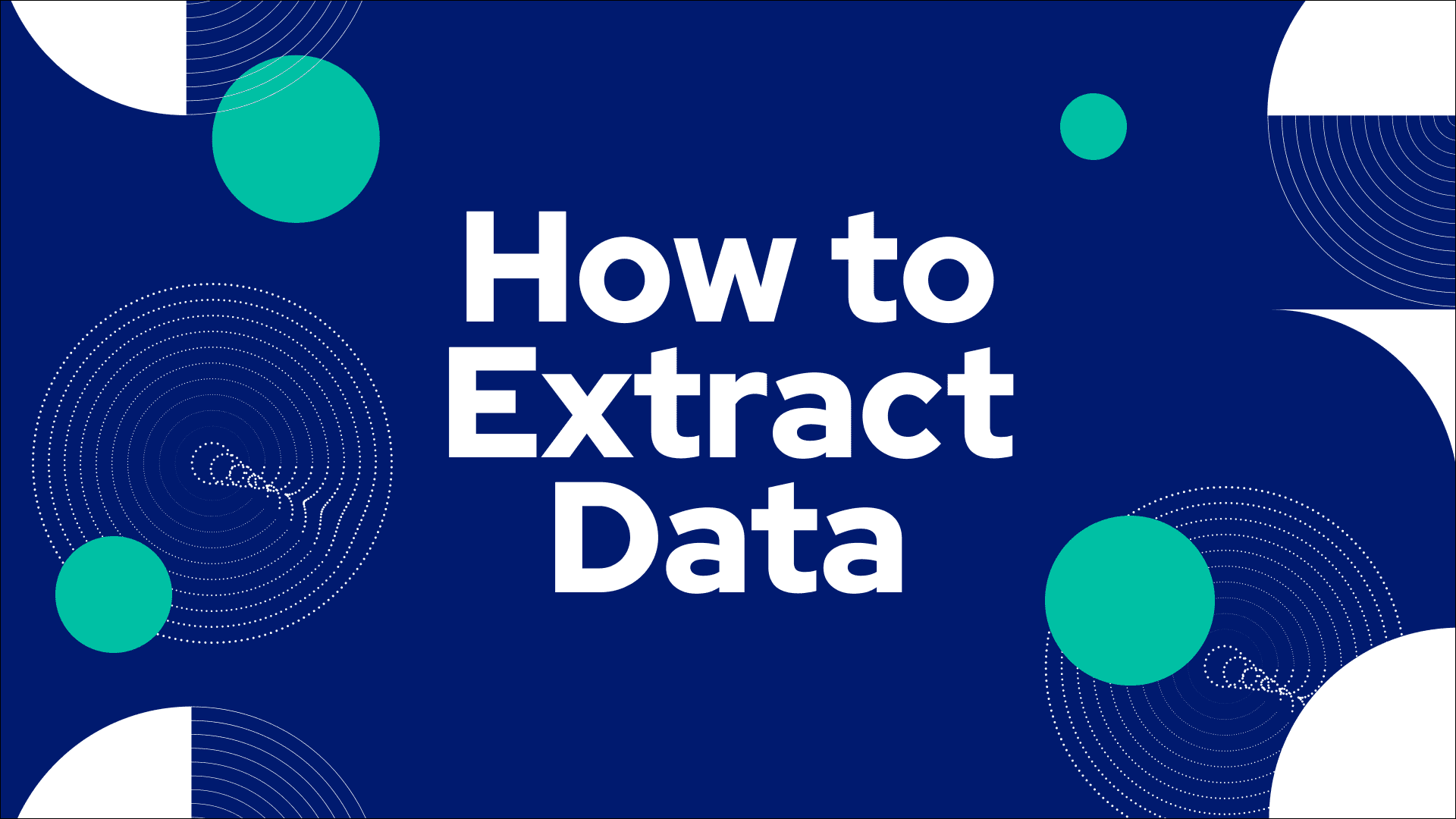 Extract Data Video