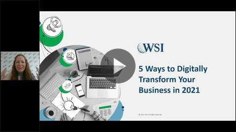 Screenshot of 5 Ways to Digitally Transform Your Business in 2021 webinar.