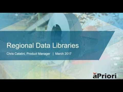 Deep Dive into aPriori Regional Data Libraries Data Sources