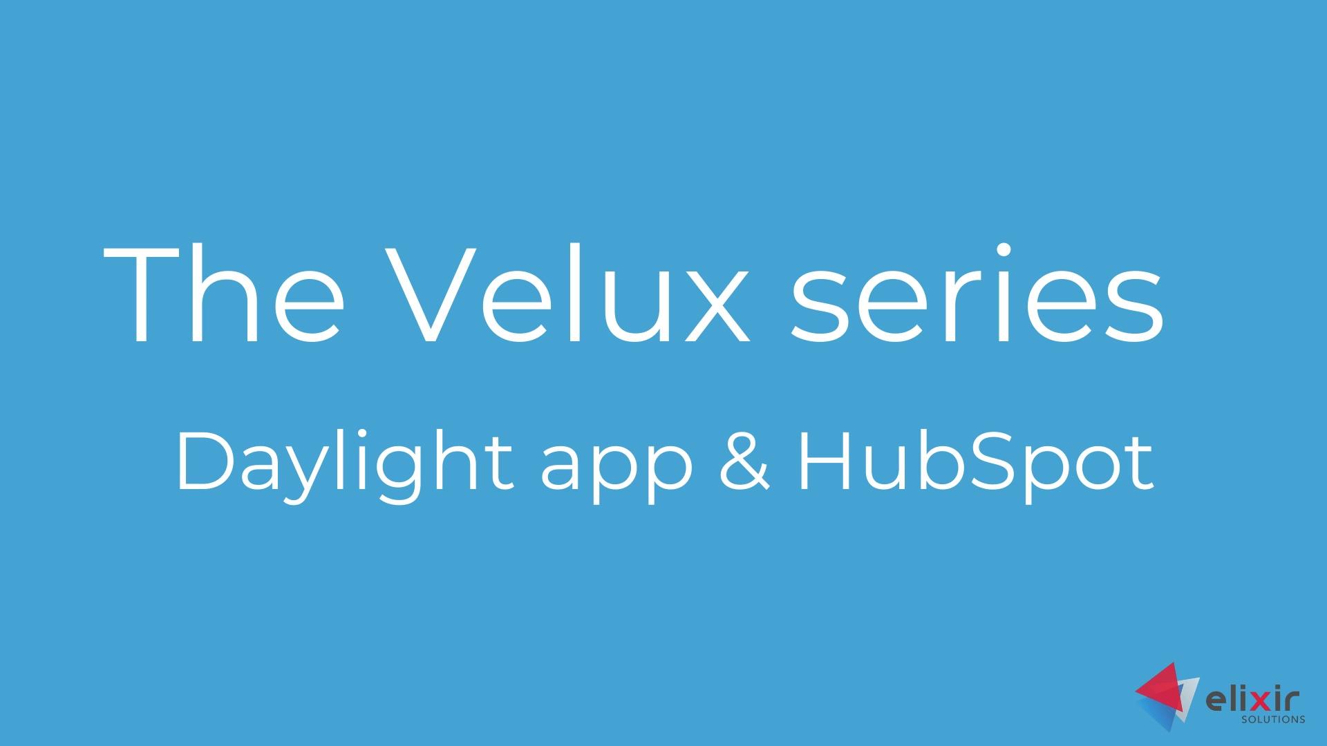 Velux  daylight app and hubspot