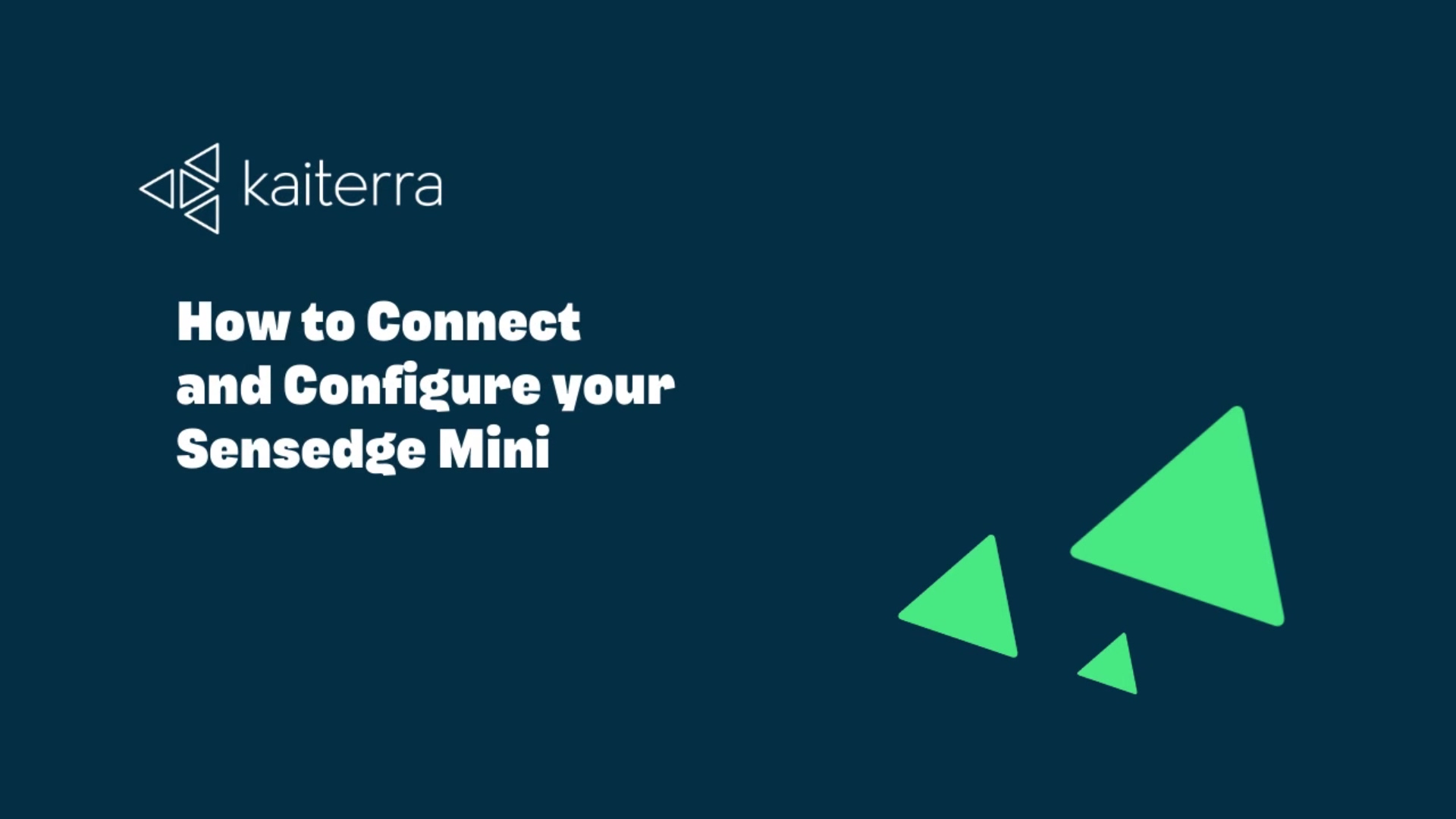 How to Connect and Configure your Sensedge Mini