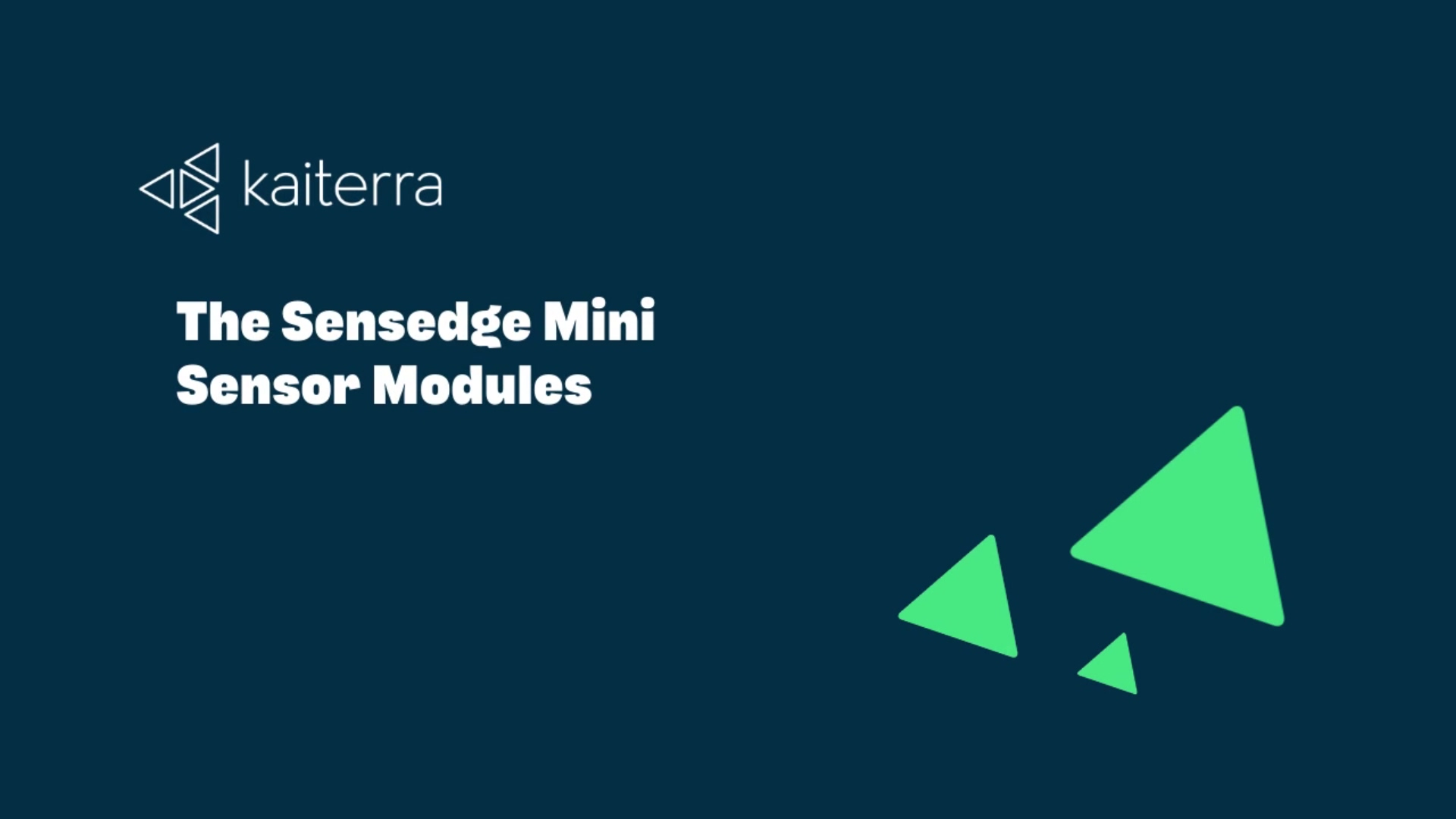 The Sensedge Mini Sensor Modules