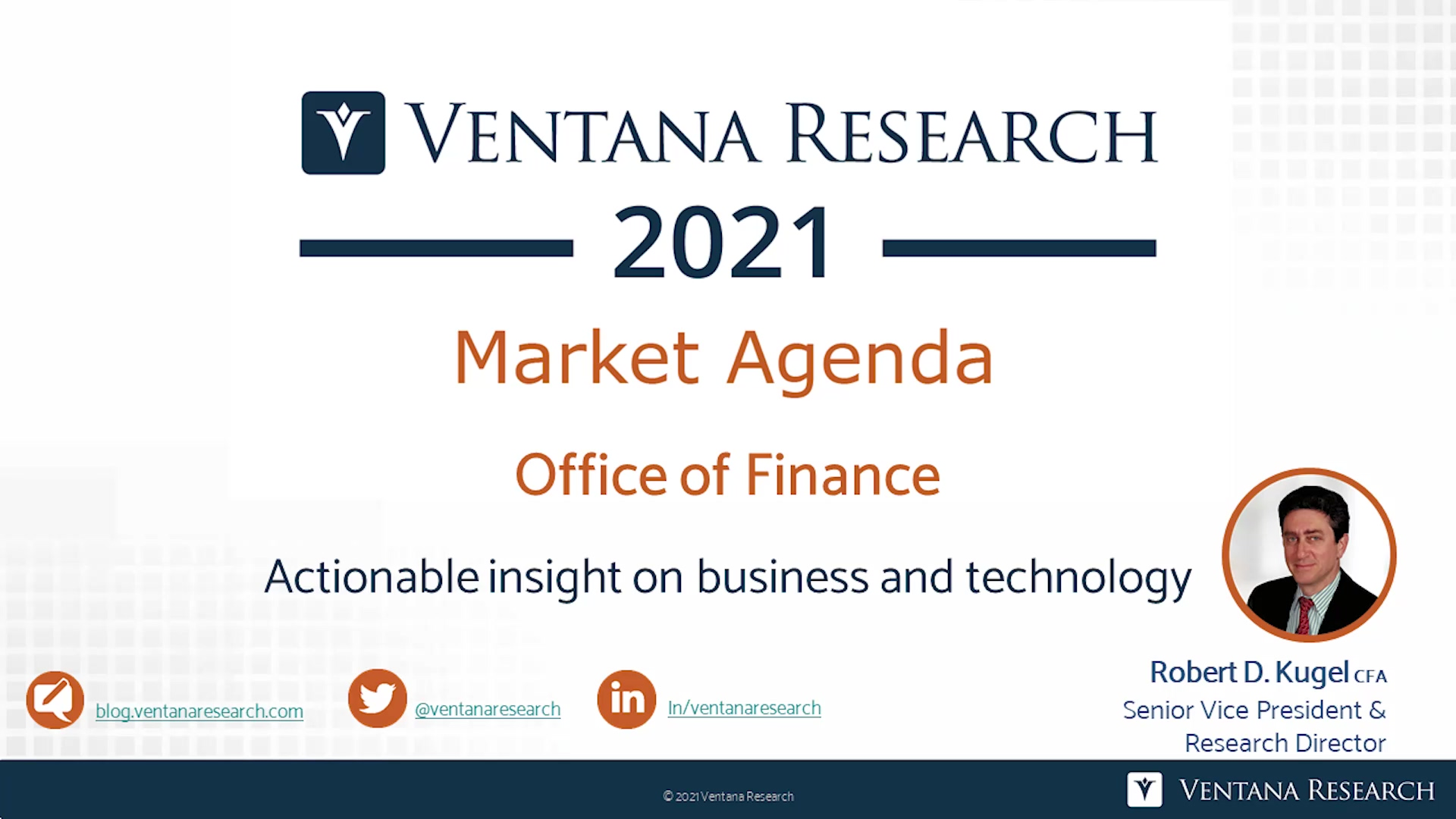 Ventana Research 2021 Market Agenda for OOF