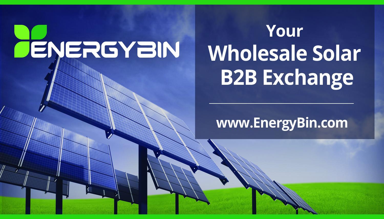 EnergyBin - Wholesale Solar B2B Exchange - Explainer Demo