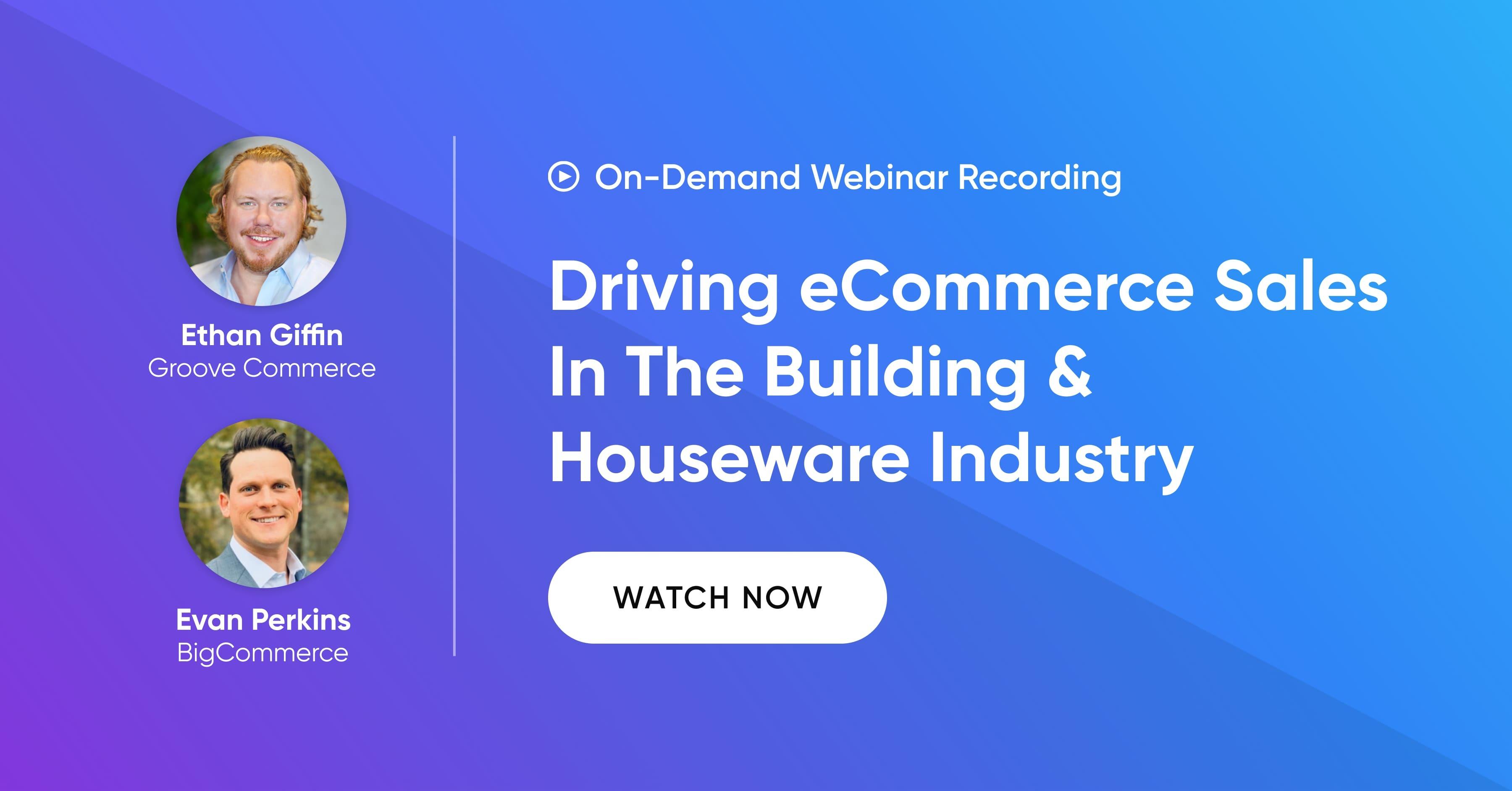 Home & Building Webinar - Recording