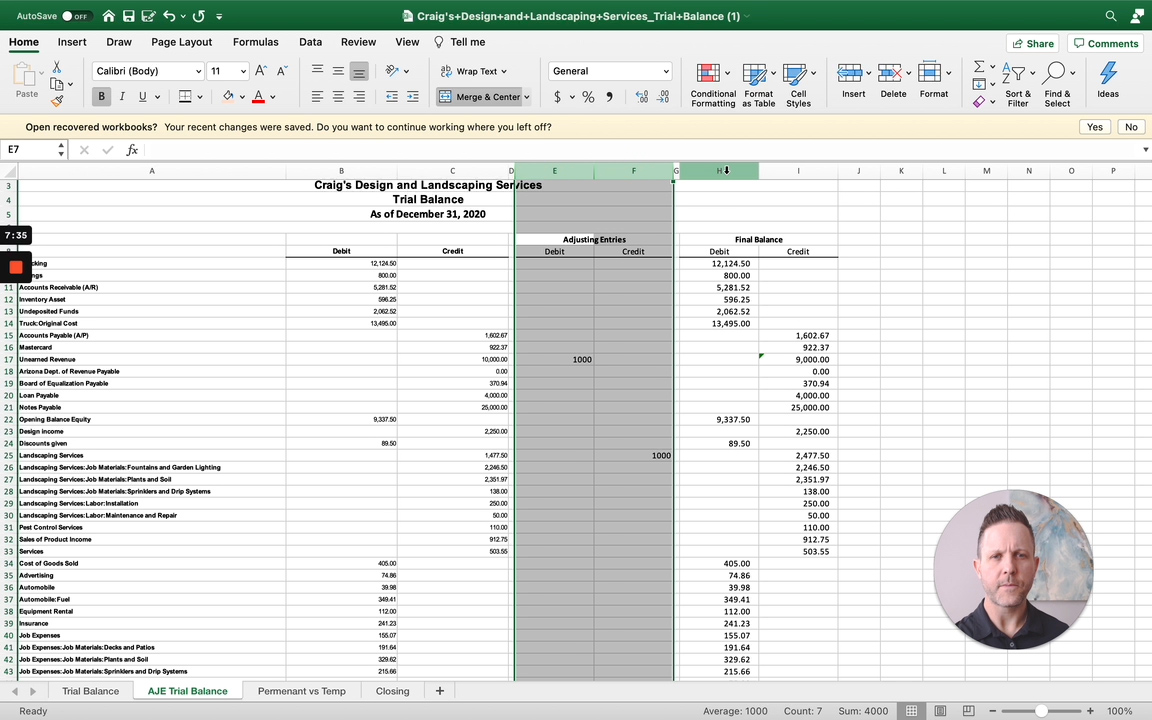 basic accounting cycle explained with example in quickbooks online and excel