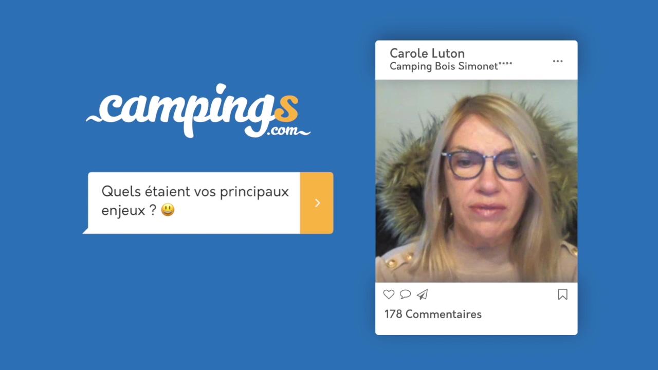 Campings.com interview Carole Luton Bois Simonet