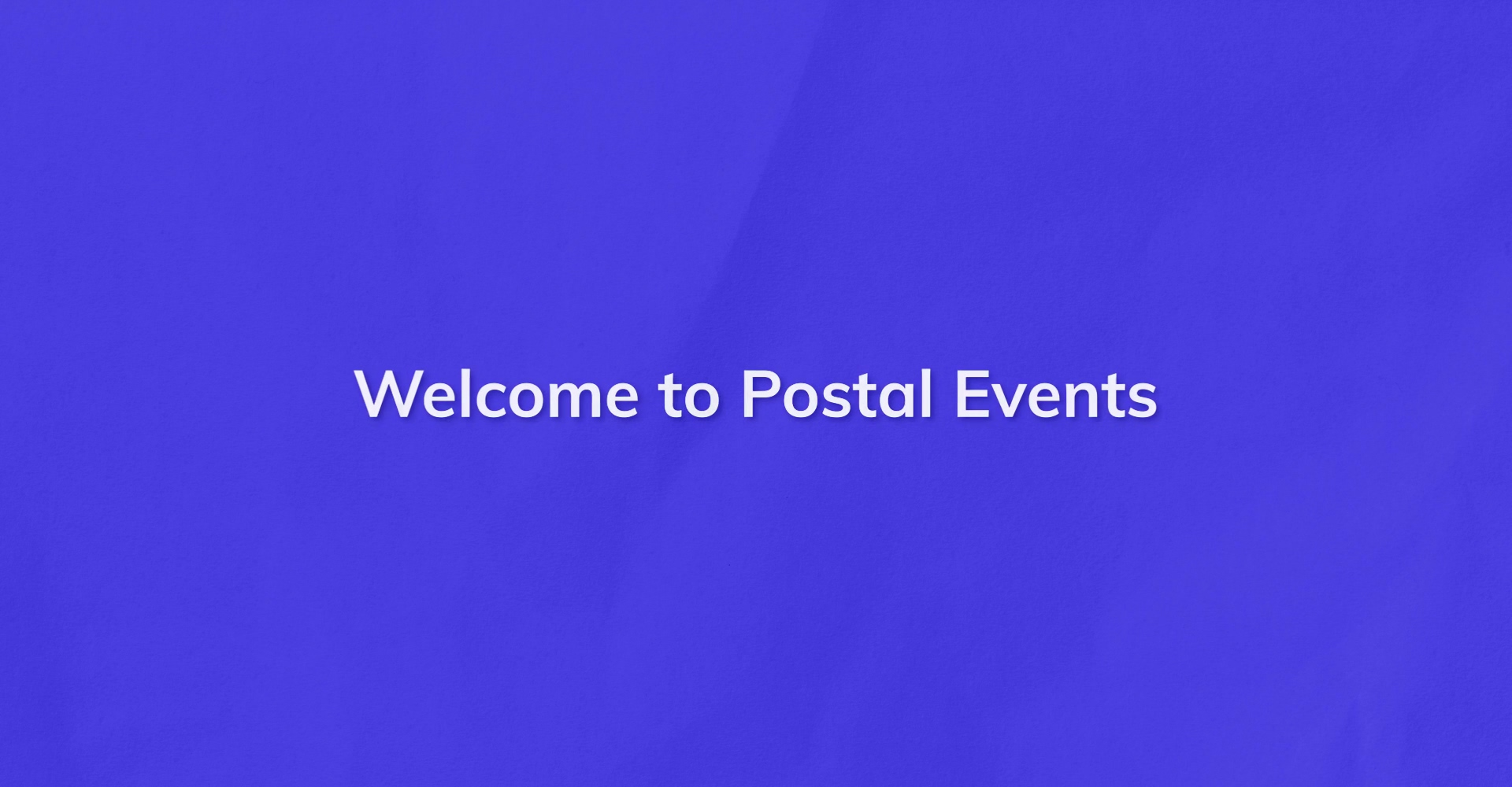 Postal Events - Hype Video
