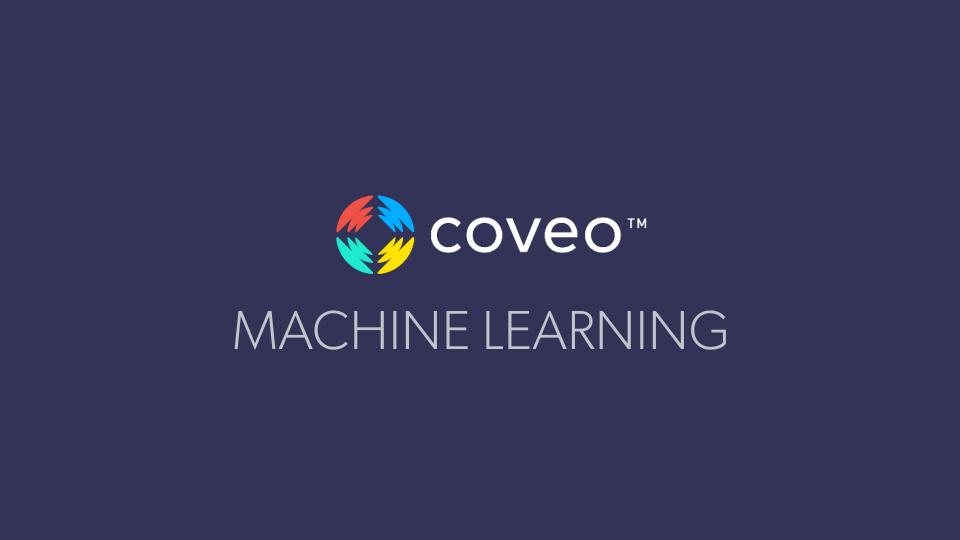L'apprentissage machine Coveo est la technologie autodidacte de la plateforme Coveo qui rend la recherche intelligente encore plus intelligente. Cette technologie analyse continuellement les données du flux de clics de vos visiteurs et les schémas de comportement liés à leur utilisation de la fonction de recherche capturés par les analyses d'utilisation de recherche, puis livre avec précision le contenu pertinent qui est le plus susceptible d'entraîner des conversions et d'assurer le succès de vos outils libre-service. Regardez notre vidéo pour en apprendre plus.