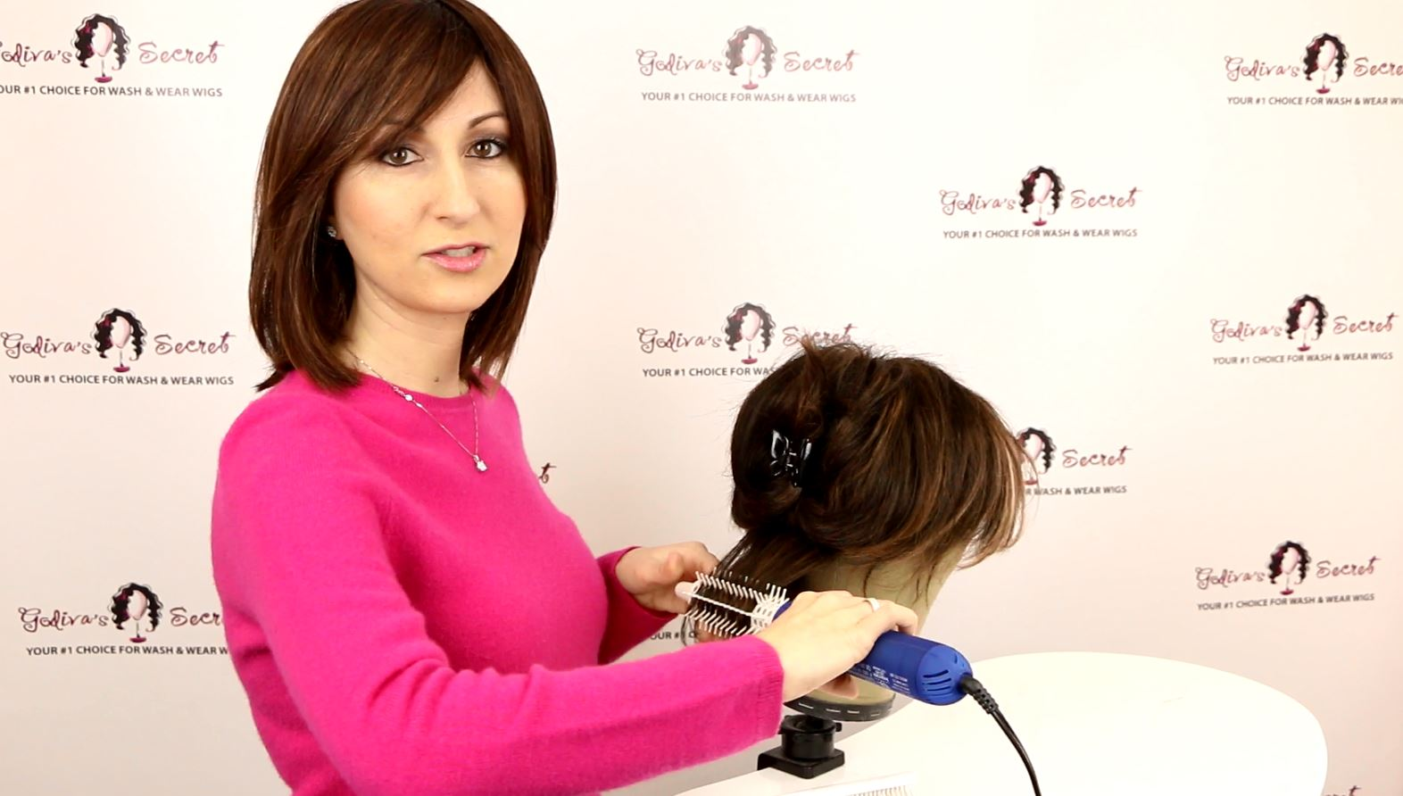 How to Defrizz and Style Your Wig with a Hot Air Brush