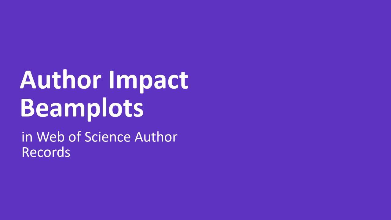 Author Impact Beamplots video