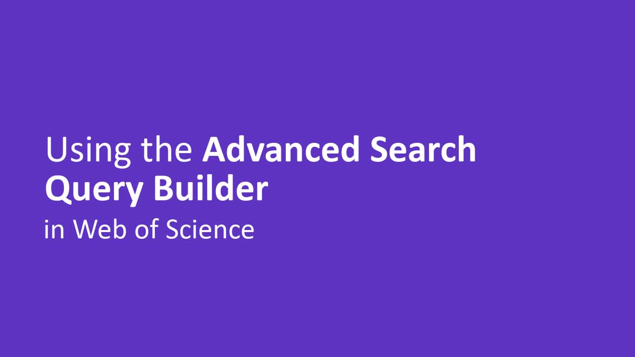 Advanced Search Query Builder video