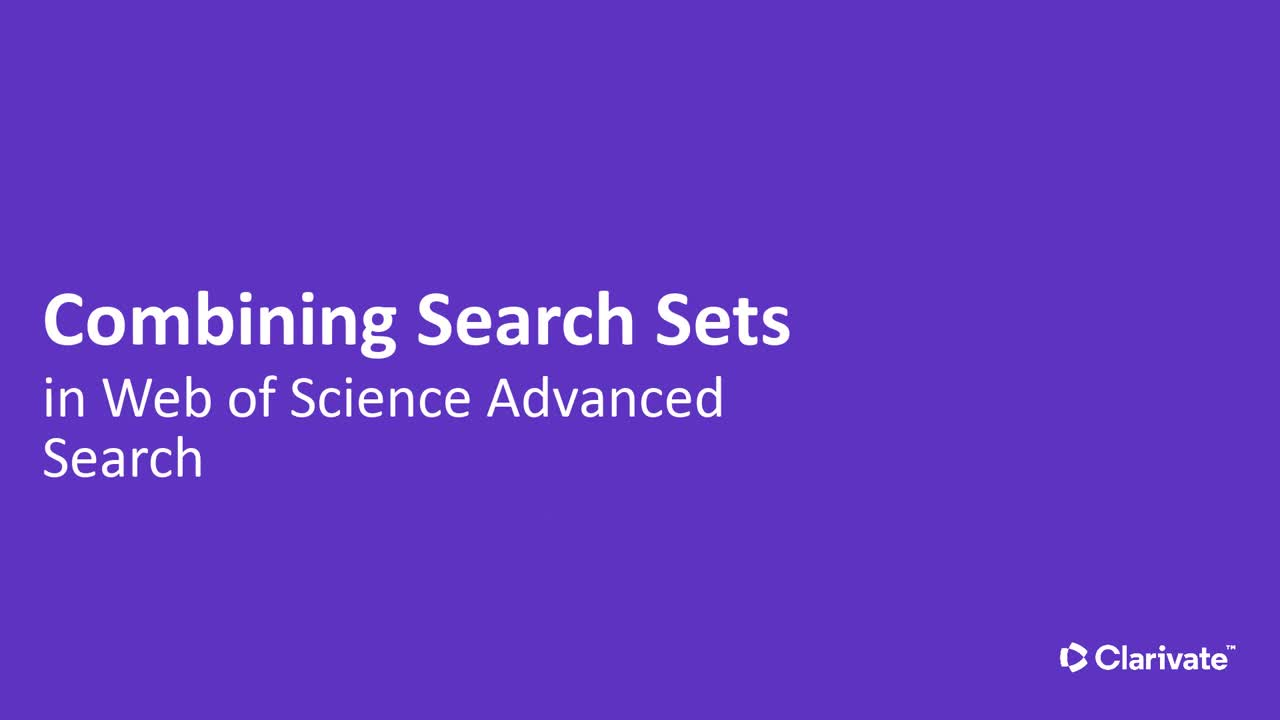 Combining Search Sets video