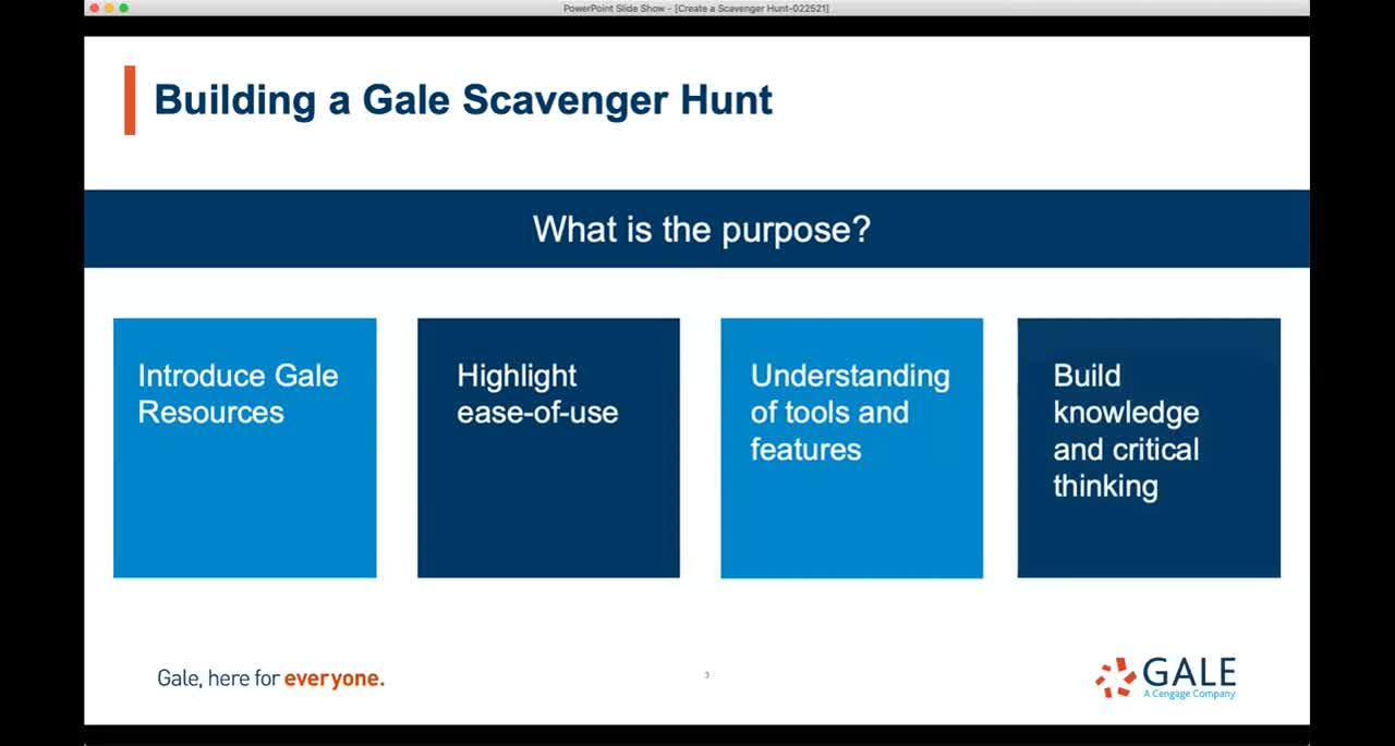 Create a Gale Scavenger Hunt Thumbnail