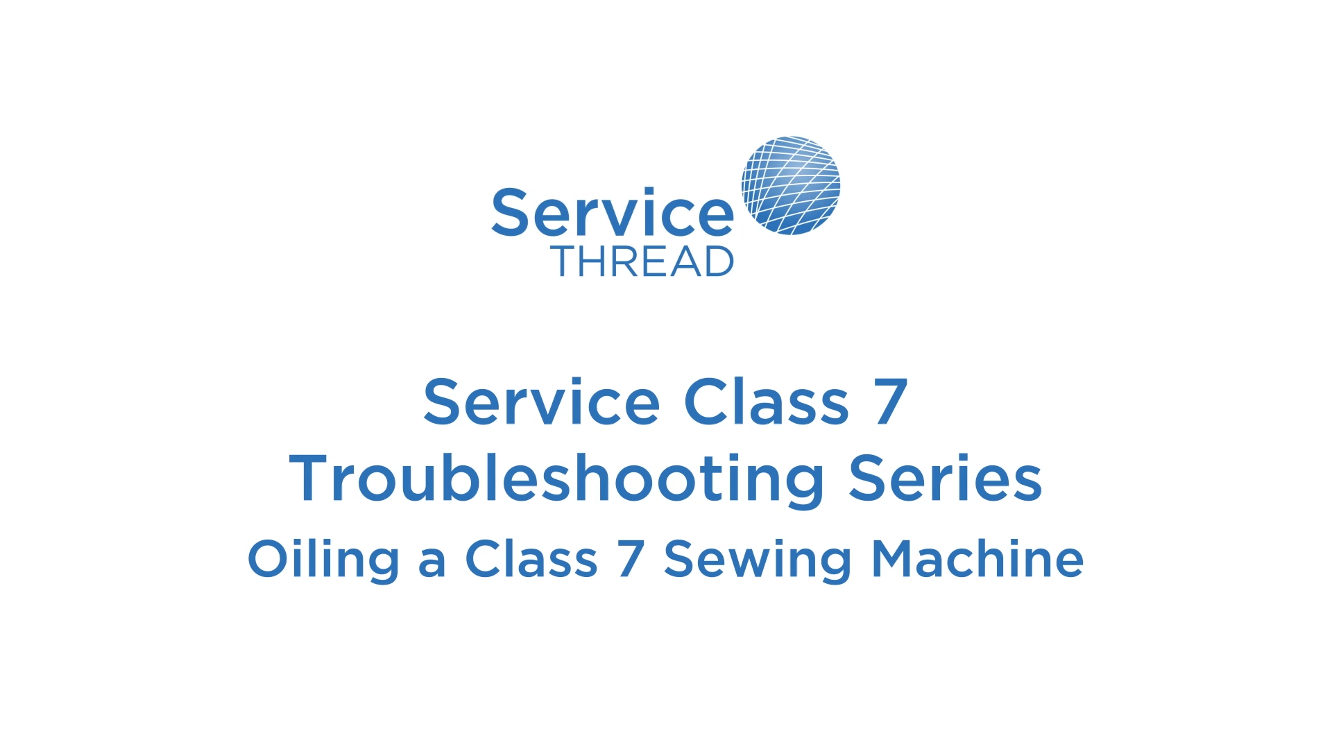 Oiling a Class 7 Sewing Machine