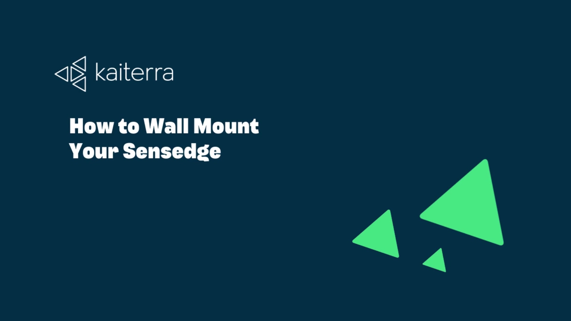 How to Wall Mount Your Sensedge