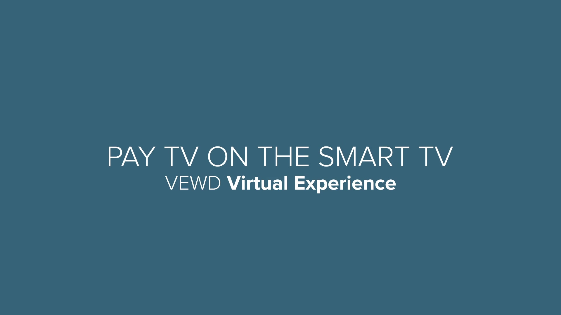 Vewd Talk - Pay TV on the Smart TV