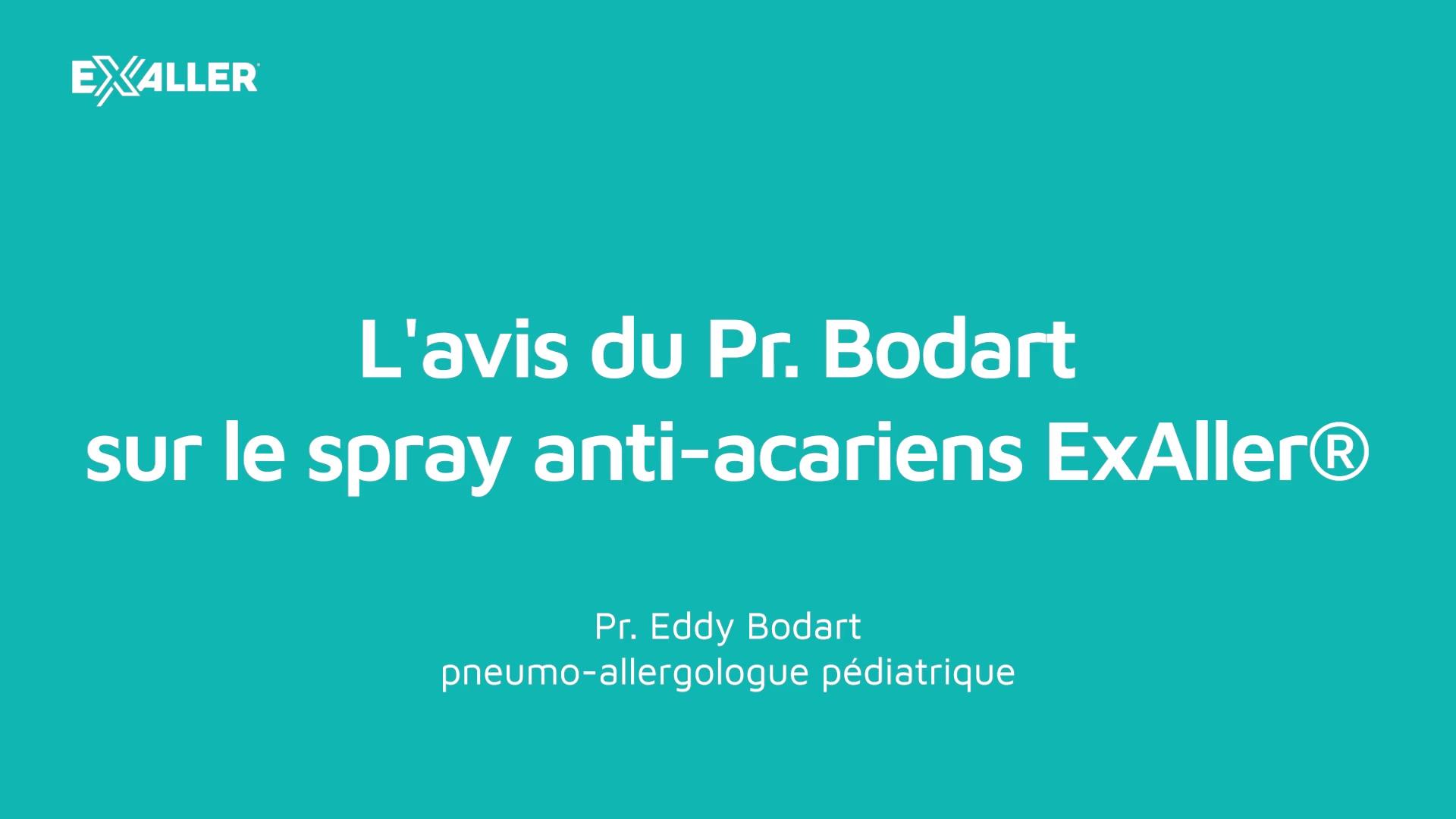 E4 Lavis du Pr. Bodart sur le spray anti-acariens ExAller