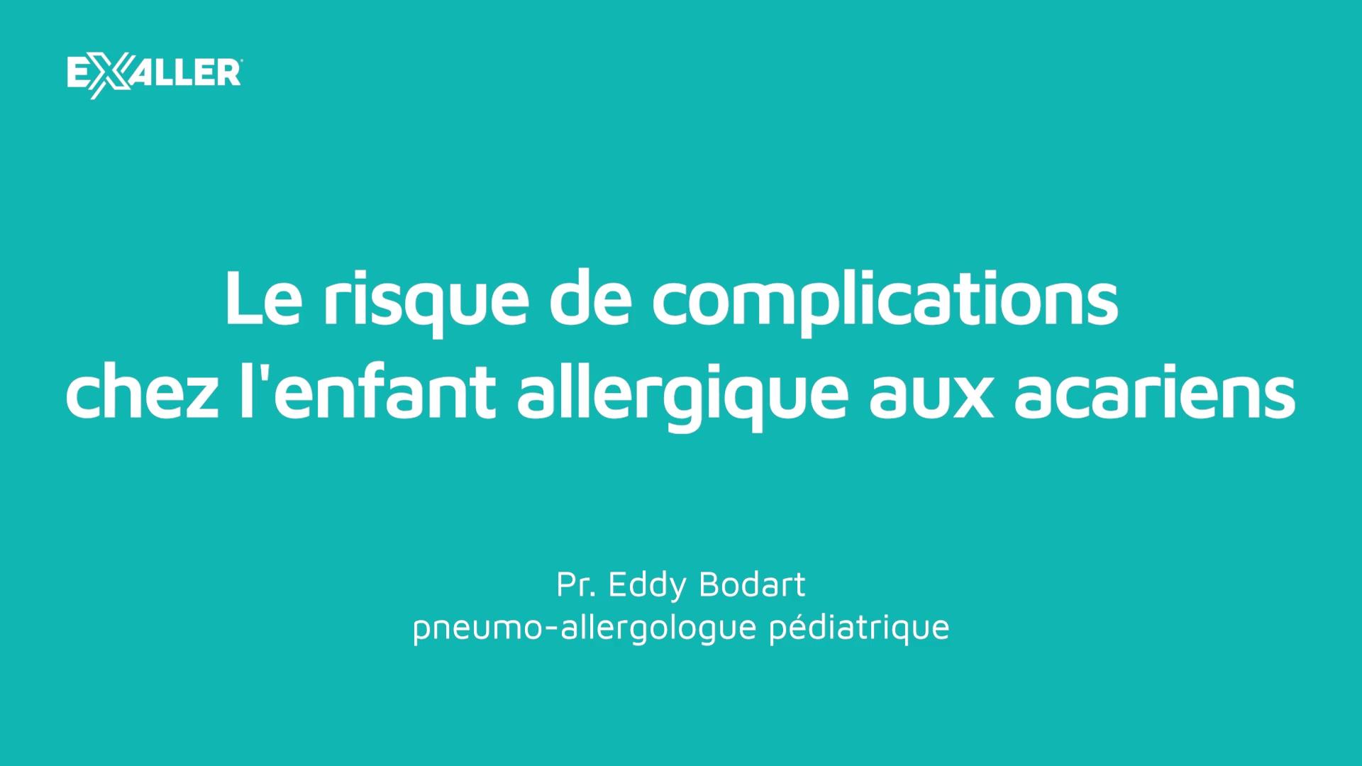 E5 Le risque de complications chez lenfant allergique aux acariens
