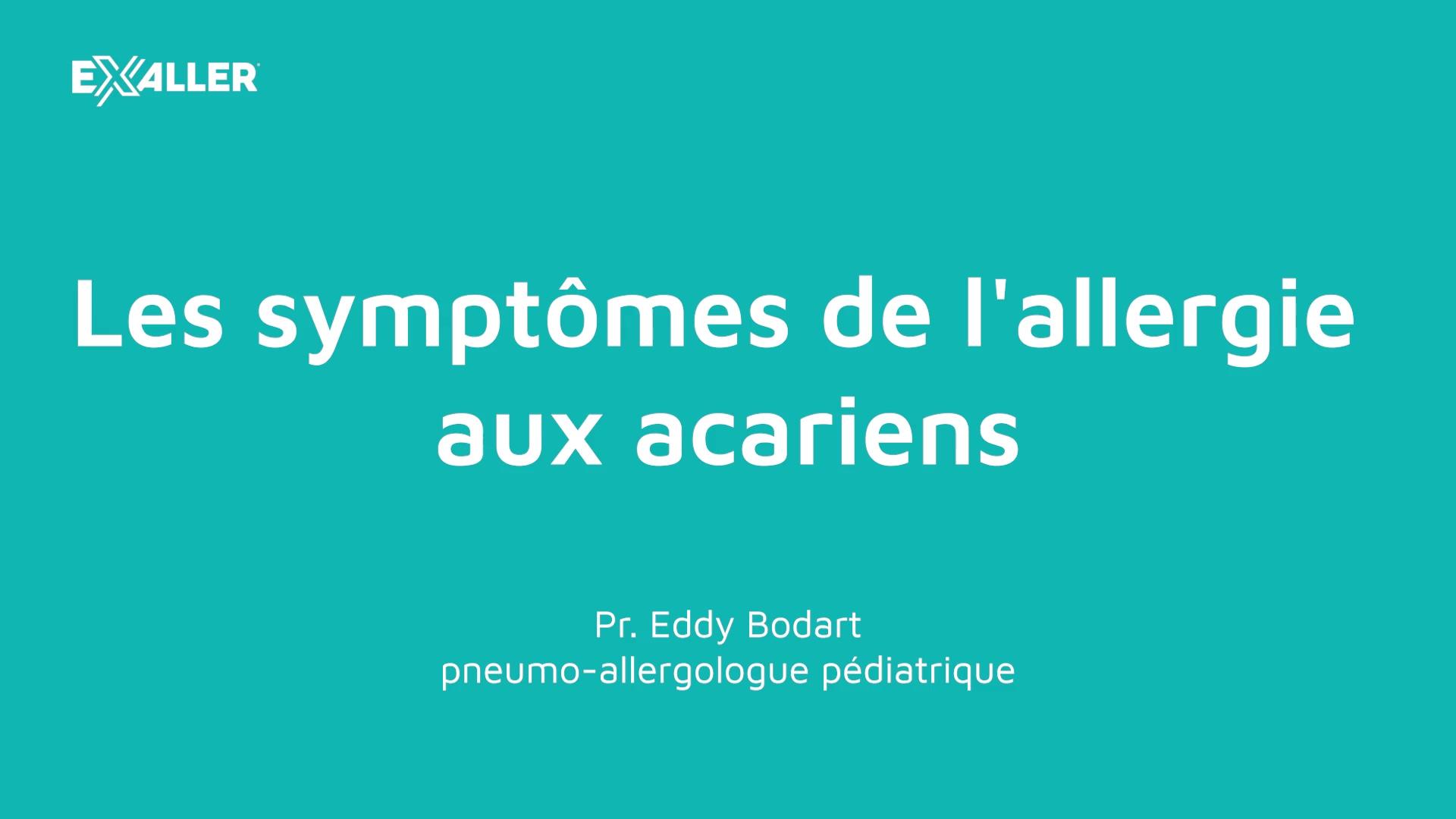 E3 Les symptômes de lallergie aux acariens
