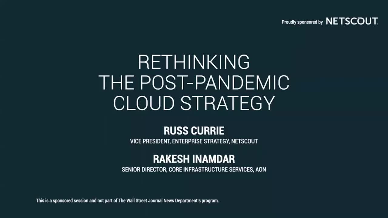 Rethinking the Post-Pandemic Cloud Strategy